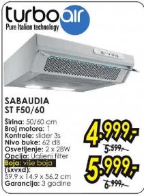 Aspirator Sabaudia ST F50