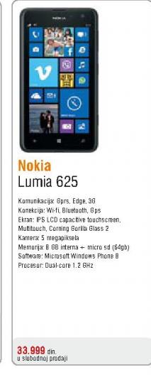 Telefon mobilni Lumia 625