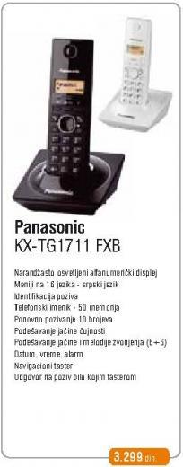 Bežični telefon KX-TG1711 FXB