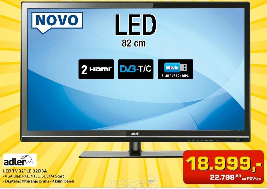 """Televizor LED 32"""" Le-32D3a"""