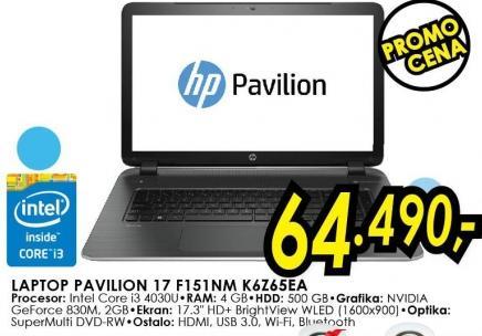 Laptop Pavilion 17 F151nm K6z65ea