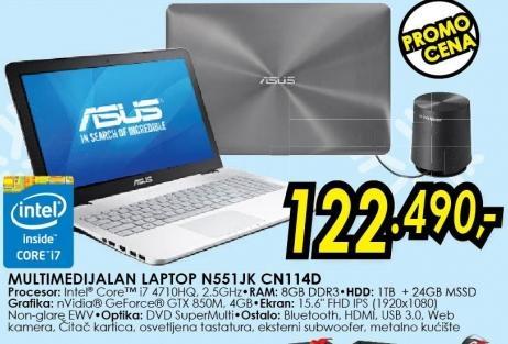 Laptop N551jk Cn114d