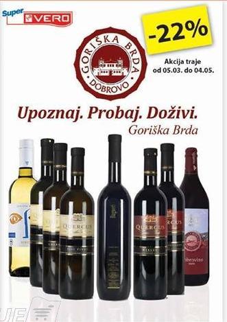 22% popusta na vina Goriška brda