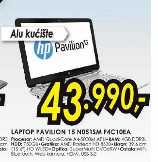 Laptop Pavilion 15-n051sm F4C10EA
