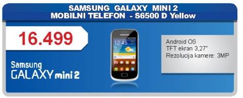 Mobilni Telefon GALAXY mini 2 S6500 D Yellow