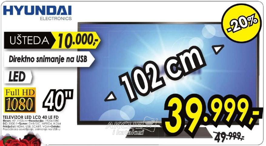 "Televizor LED 40"" LE FD"