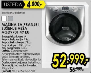 Mašina za pranje i sušenje veša Aqd970f49 Eu