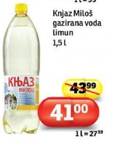 Mineralna voda gazirana limun