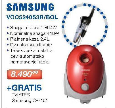Usisivač Vcc5240s3r/Bol