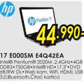 Laptop Pavilion 17-E000SM E4Q42EA