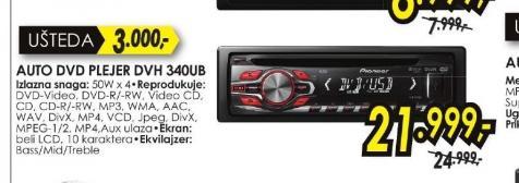 Auto DVD plejer DVH-340UB