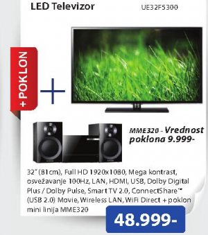 Televizor  LED UE32F5300