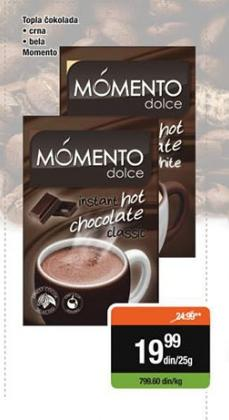 Topla čokolada bela Momento