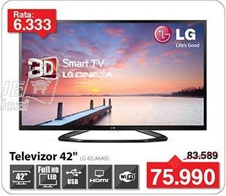 """Televizor LED 42"""" 3D 42la640s"""