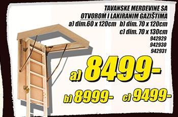 Tavanske merdevine 70x120cm