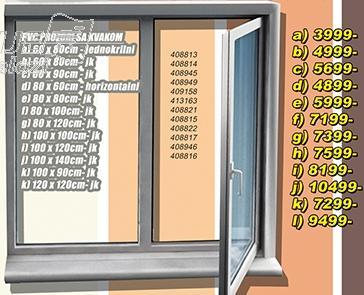 Prozor PVC sa kvakom 100x140 jk