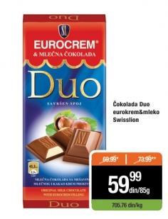 Čokolada duo eurocrem
