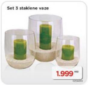 Set Staklenih Vaza