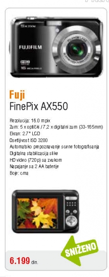 Fotoaparat AX550 Black