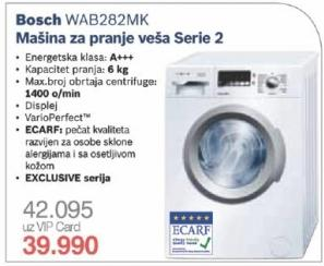 Mašina za pranje veša Wab282mk