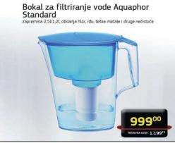 Bokal za filtriranje vode Standard