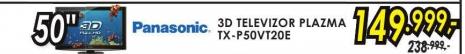 Televizor 3D plazma TX-P50VT20E