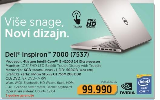 Laptop Inspiron 7000 7537-i5-Touch