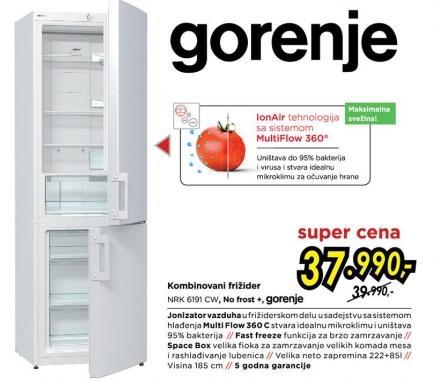 Kombinovani frižider Nrk 6191 Cw