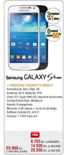Telefon mobilni Galaxy S4 mini