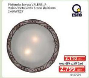 Plafonska lampa Valensija
