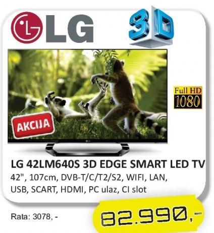 "Televizor LED 42"" 42LM640S"