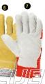 Zaštitne građevinske rukavice, Mornar siva/crvena
