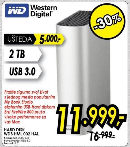 Eksterni hard disk WD Wdb Hml002 Hal