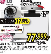 Televizor 3D LED LCD 42LA641S
