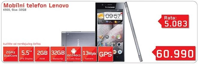 Mobilni telefon K900 Sivi 32Gb