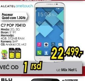 Mobilni telefon One Touch Pop C7 OT-7041D