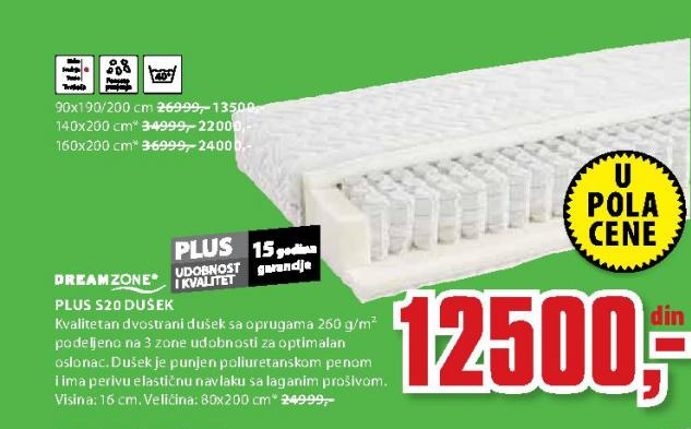 Dušek Plus S20, 80x200cm