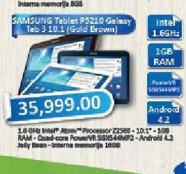 Tablet Galaxy GT3-P5210 10.1 Gold Brown