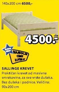 Krevet Sallinge 140x200cm