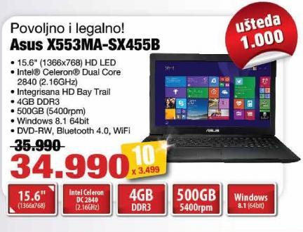 Laptop X553ma-Sx455b