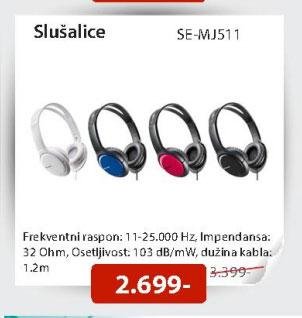Slušalice SE-MJ511