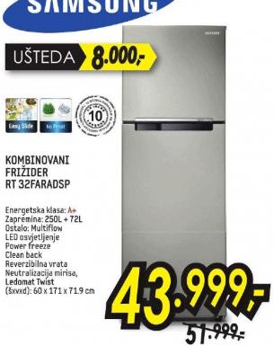 Kombinovani frižider RT32FARADSP