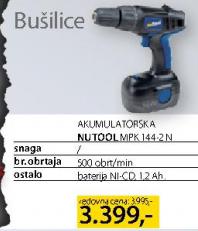 Akumulatorska Bušilica Nutool MPK 144-2N