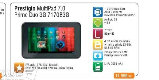 Tablet Multipad 7170B 3G