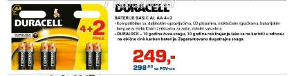 Baterija BASIC AL AA 4+2