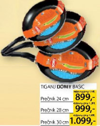 Tiganj Domy Basic 28cm