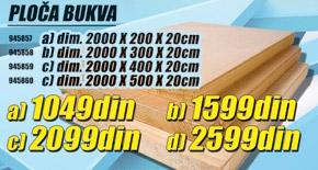 Ploča Bukva 2000x200