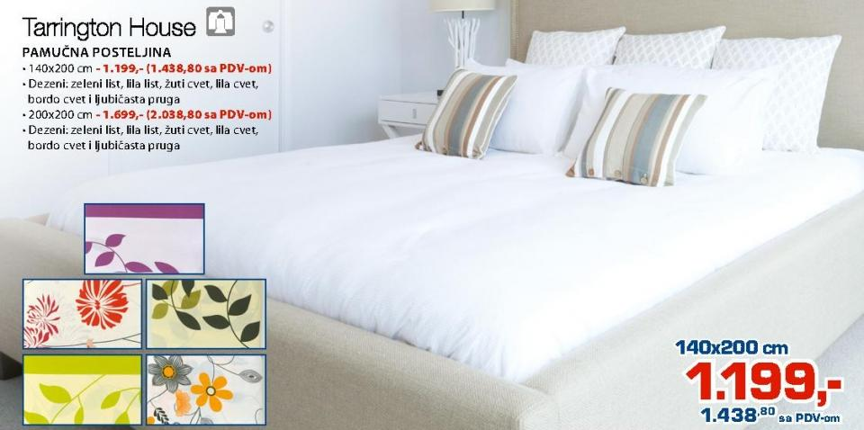 Pamučna posteljina 200x200