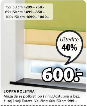 Roletna loppa 85x150cm