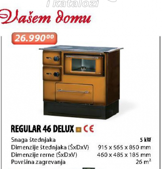 Šporet REGULAR 46 DELUX